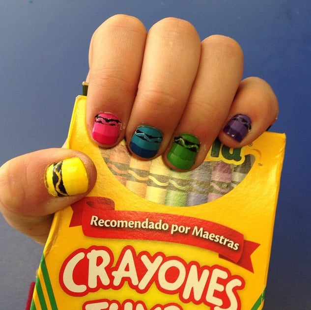 Crayola Cool Back To School Nail Art Designs Popsugar Beauty