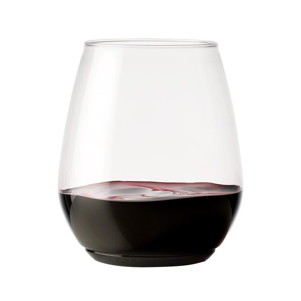 Nice Tossware Recyclable Plastic Wine Glasses