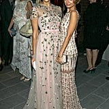 Nicole Richie and Jessica Alba posed together.