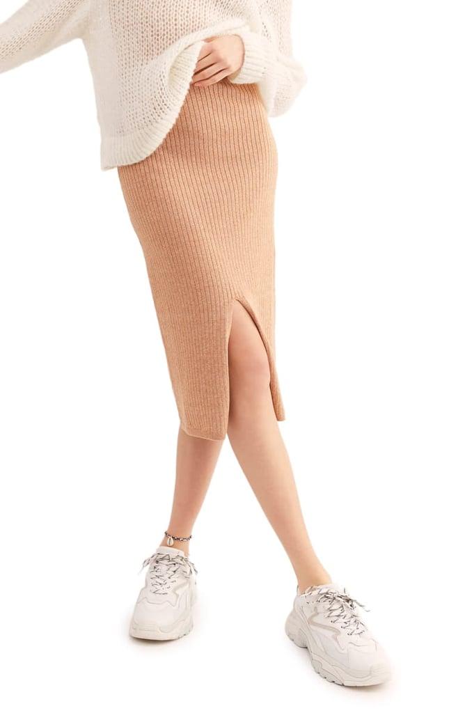 Moana: Free People Skyline Rib Midi Skirt