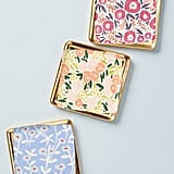 Anthropologie Painted Poppies Coaster