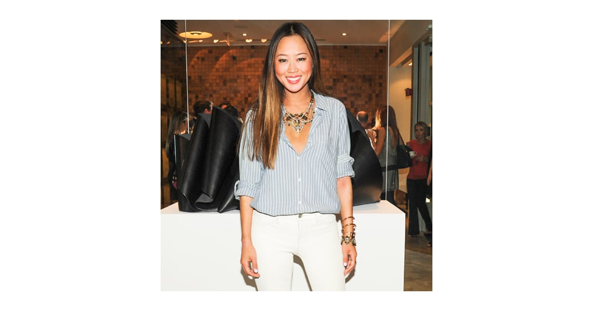 Aimee Song White Jeans Outfit Popsugar Fashion