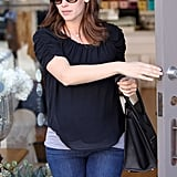 Jennifer Garner left the store without packages.