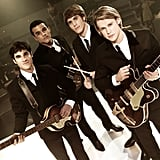 The boys of Glee —Darren Criss, Jacob Artist, Blake Jenner, and Chord Overstreet — looked dapper in sleek suits while filming the show's Beatles tribute.