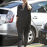 Pregnant Drew Barrymore was out in LA for lunch.