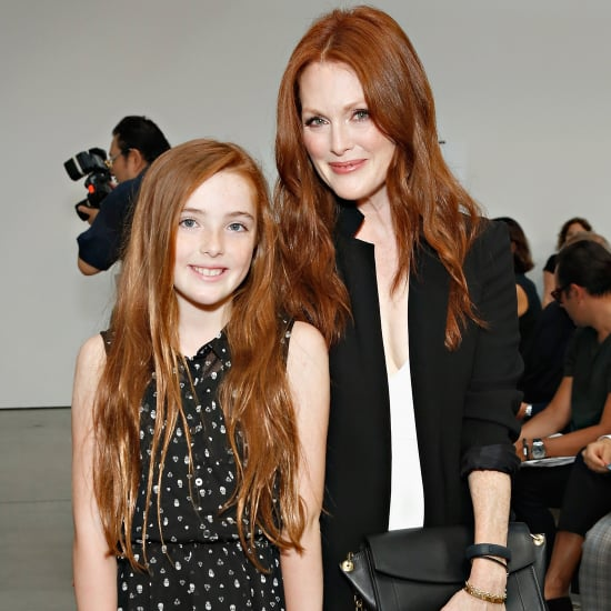 Julianne Moore and Liv Freundlich at New York Fashion Week