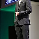 Justin Timberlake took the floor at a Panasonic press conference.