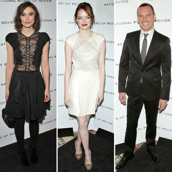 Emma, Keira, and Michael Step Out For a Star-Studded National Board of Review Gala