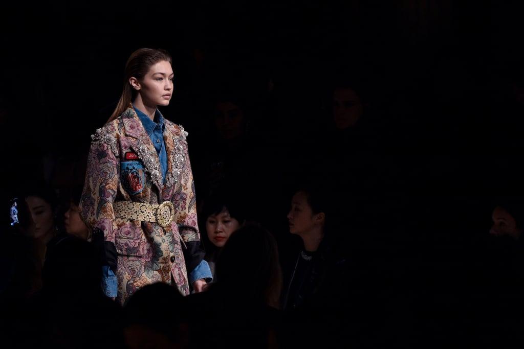 See Gigi Hadid Finish Fashion Month on the Miu Miu Runway