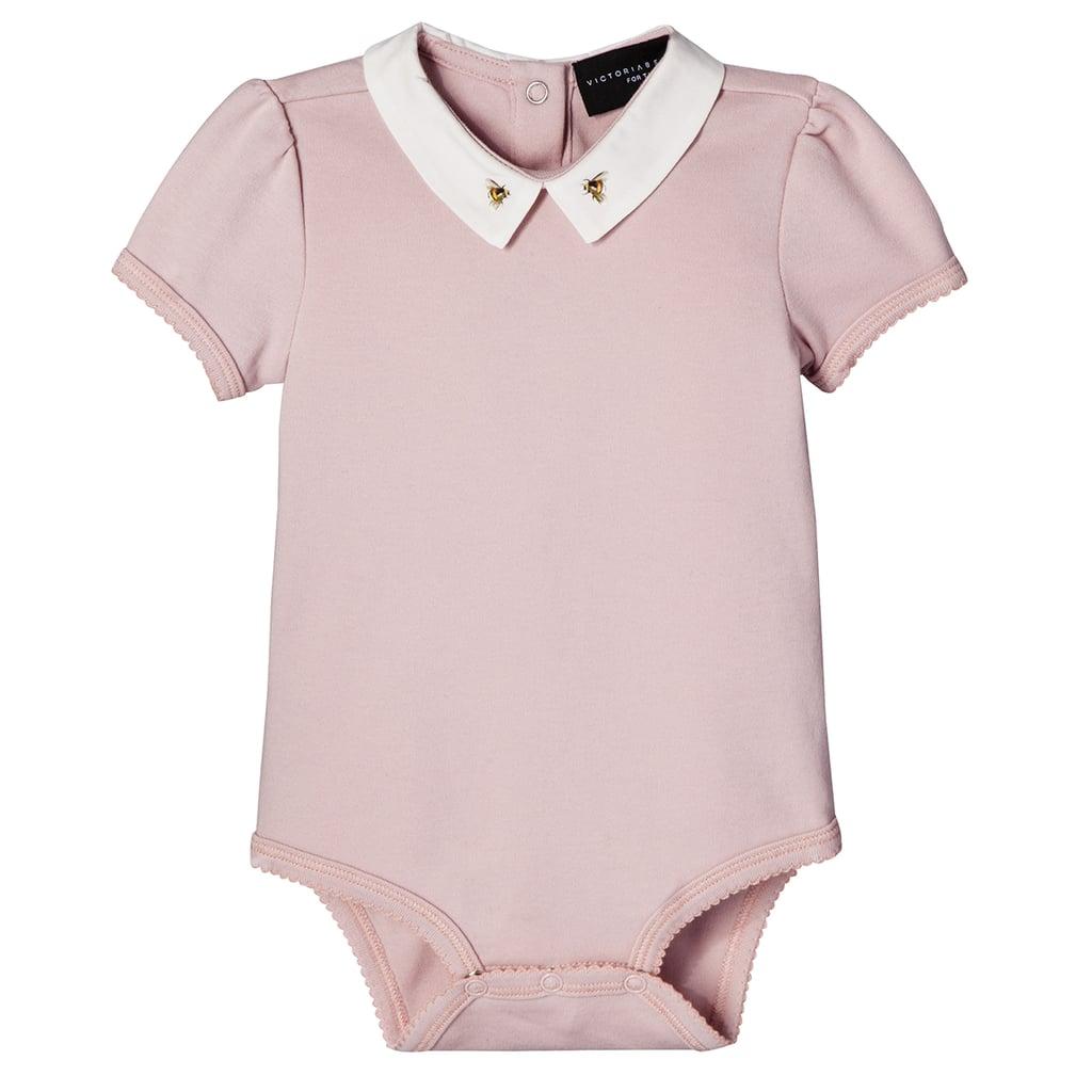 Baby Blush Bee Collar Bodysuit   ($13)
