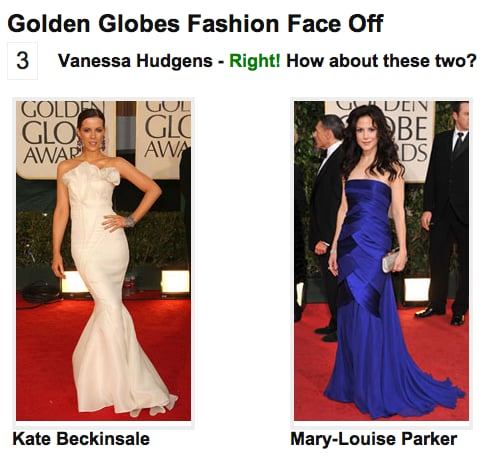 Play Our Golden Globes Fashion Faceoff!