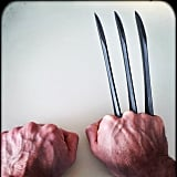 Hugh Jackman posted this picture, telling fans that he would be Wolverine . . . one last time. OK, this might be for the next Wolverine movie, but it's still fun!