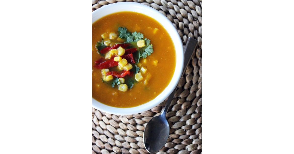 Santa fe style paleo vegetable soup healthy slow cooker for Healthy slow cooker soup recipes uk
