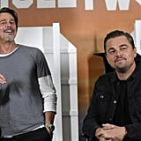 Brad Pitt and Leonardo DiCaprio at an LA Photocall For Once Upon a Time in Hollywood