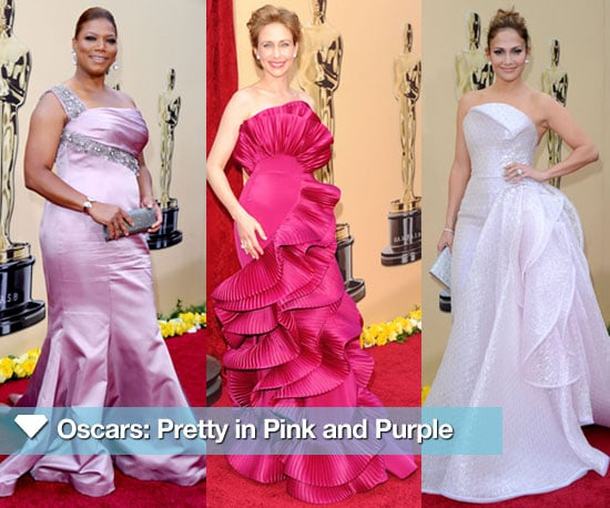 2010 Oscars Trend: Pink and Purple Gowns