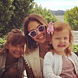 """Cash Warren thanked Jessica Alba for all that she does as mom to their daughters. """"Our little ones are so lucky to have you for a mom ... And I'm so thankful to have you as my teammate. With you by our sides we feel like we can't lose."""""""