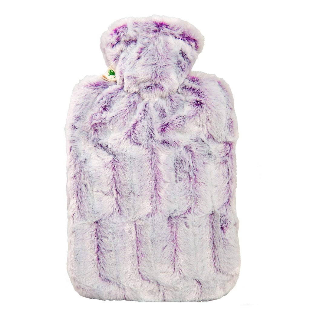 Hugo Frosch Hot-Water Bottle With Microfiber Cover in Purple-Silver ($26)