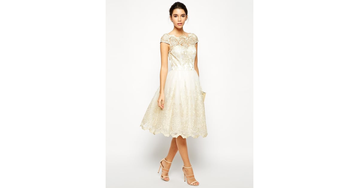 Top 50 Best Cheap Wedding Dresses Compare Buy Save: Chi Chi London Premium Metallic Lace Midi Prom Dress With