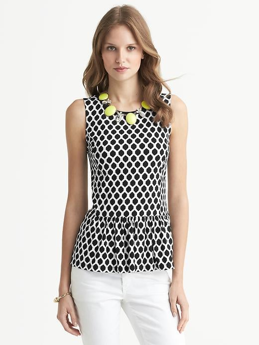 Slip this Banana Republic geo print peplum top ($45) under a work blazer, and prepare for the compliments to roll in.