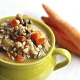 Get the recipe: crockpot mushroom, barley, and lentil soup