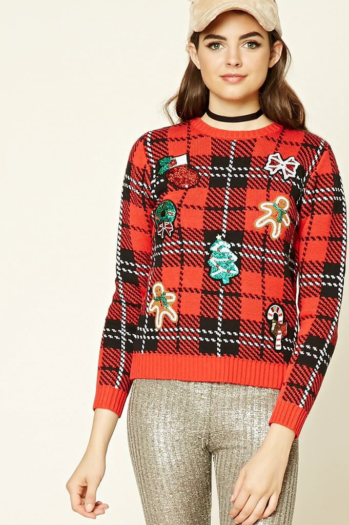 Forever 21 Sequined Patch Holiday Sweater ($23)