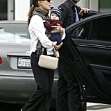 Natalie Portman and Benjamin Millepied explored LA in November 2011 with little Aleph.