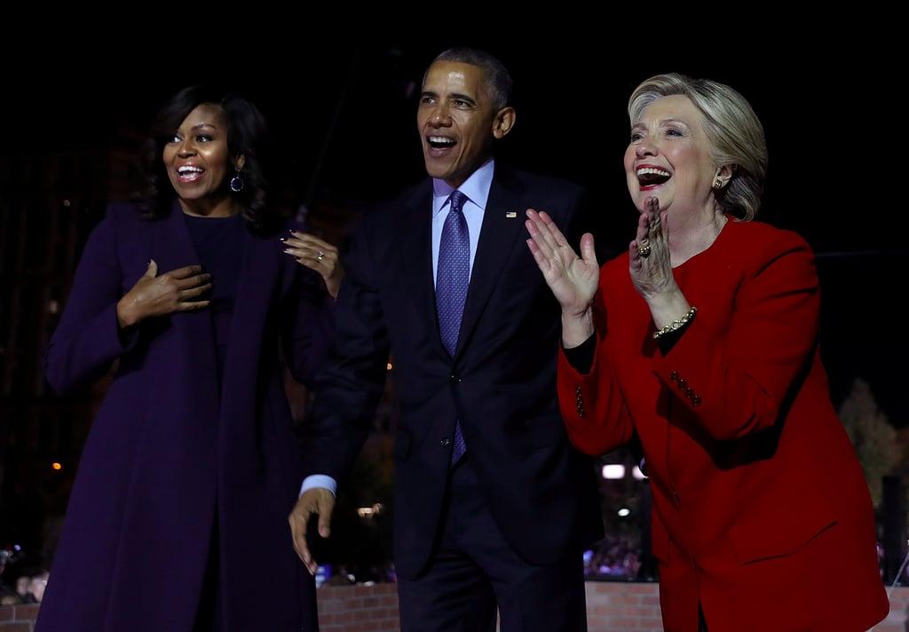 Obamas Campaign For Hillary Clinton in Philadelphia   Photos