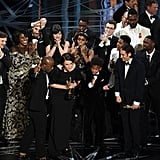 And then the Moonlight peeps finally got to give their acceptance speech.