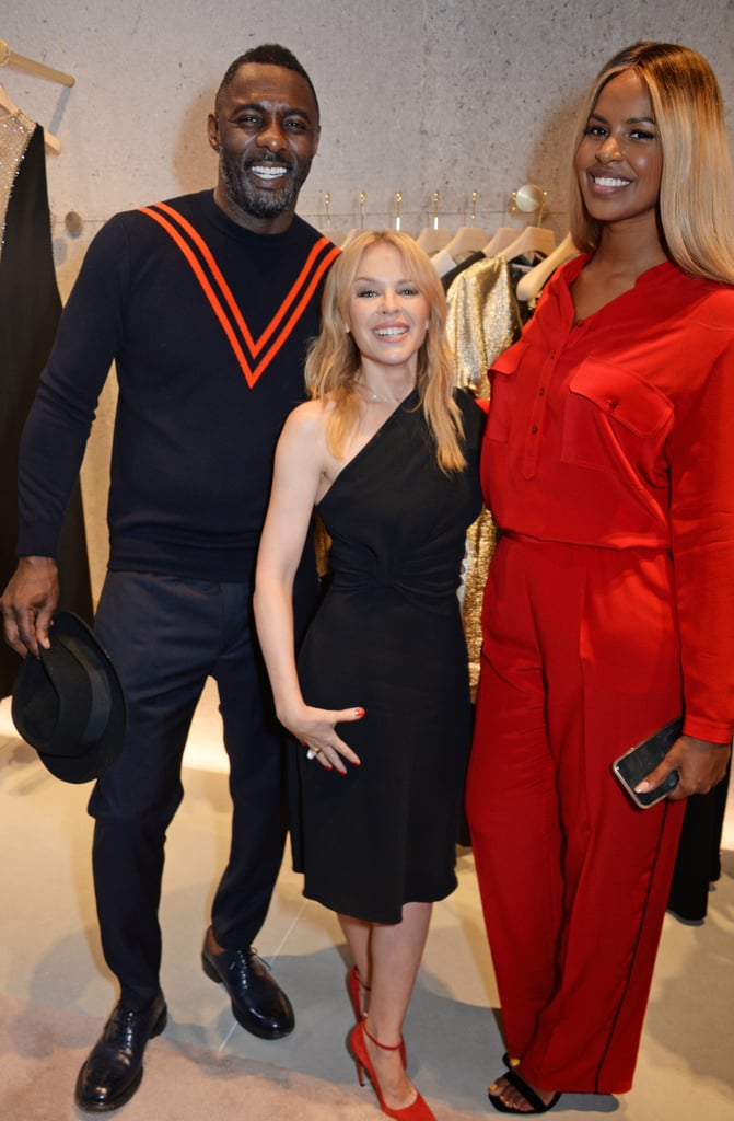 Idris Elba, Kylie Minogue, and Sabrina Dhowre