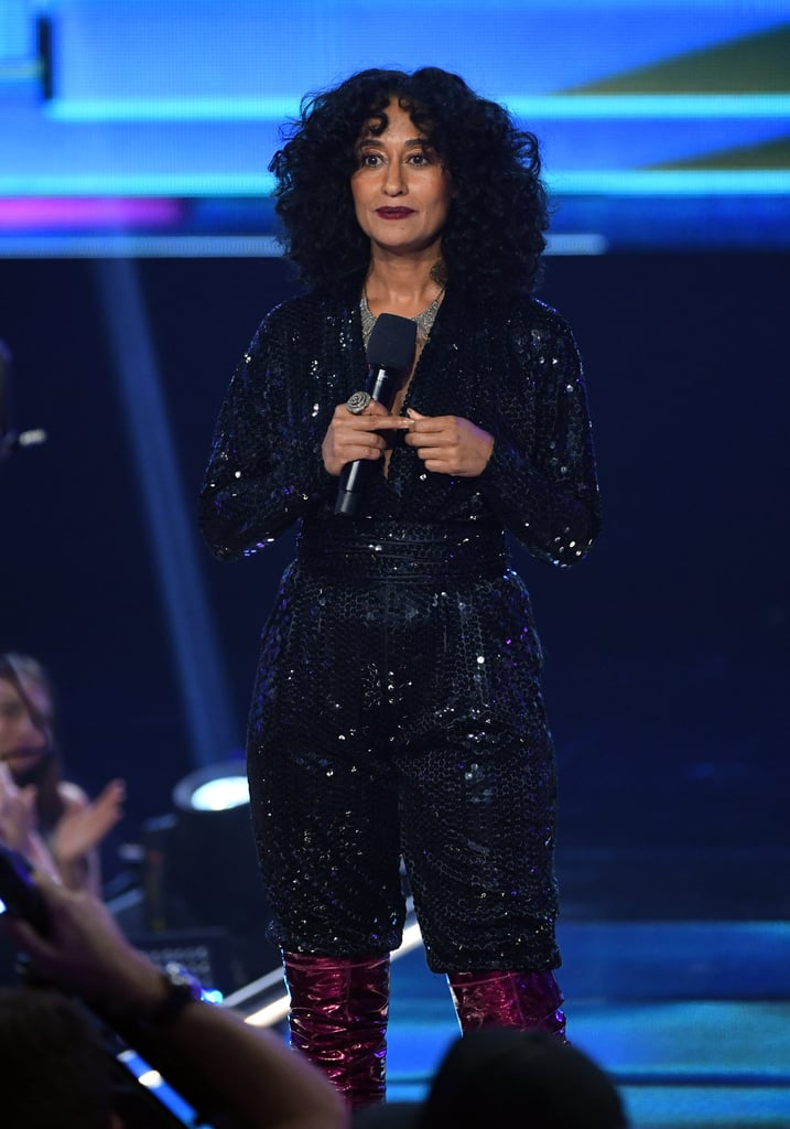 For Her Third Look, Tracee Wore a Sequined Jumpsuit