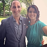 Veep's Tony Hale and Scandal's Bellamy Young shared a moment.