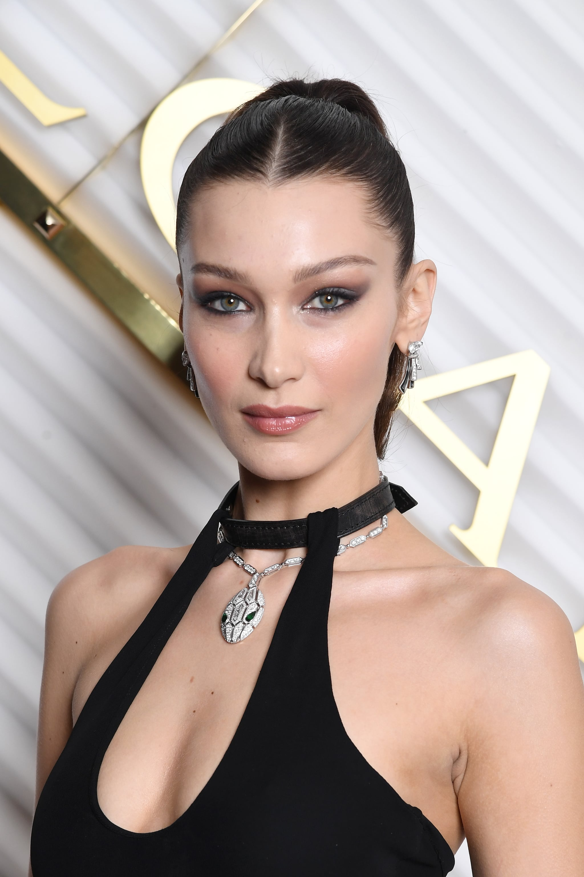 MILAN, ITALY - FEBRUARY 22: Bella Hadid attends BVLGARI - Dinner Party - Milan Fashion Week FW19 on February 22, 2019 in Milan, Italy. (Photo by Daniele Venturelli/Daniele Venturelli/Getty Images for BVLGARI )