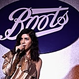 Marina Rocking Out For Boots