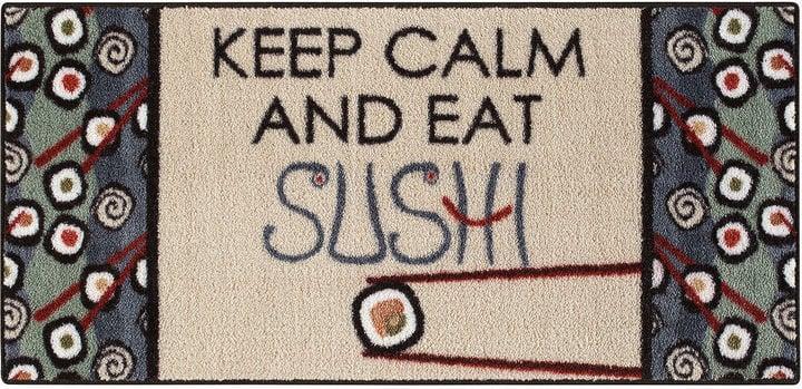 Asstd National Brand Keep Calm Sushi Rectangular Rug