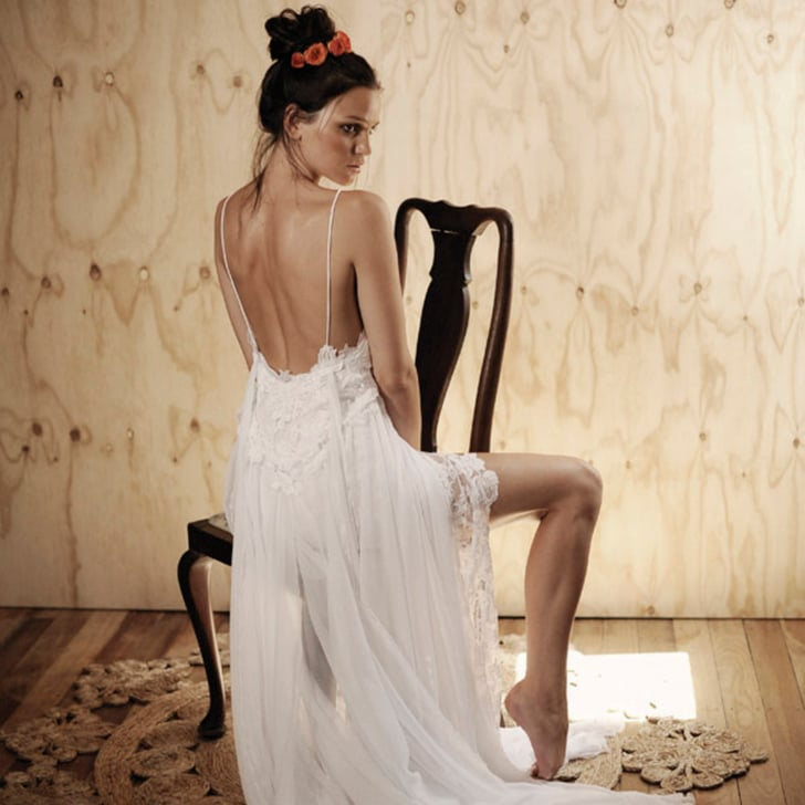 Bohemian wedding gown designers