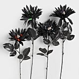 Black Daisy Stems With Skulls Set Of 4 ($8)