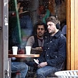 Zac Efron filmed at a coffee shop in NYC.