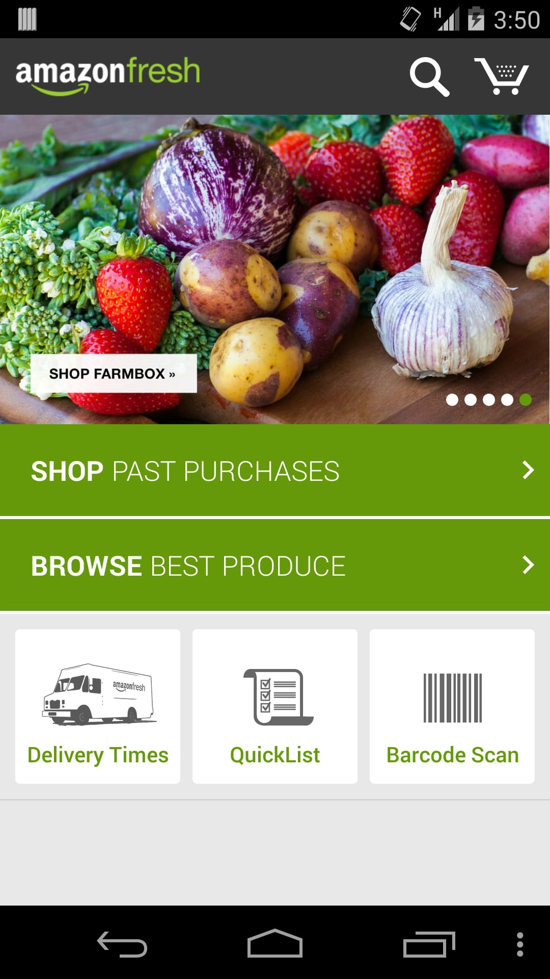 Amazon Fresh has over 500,000 products.