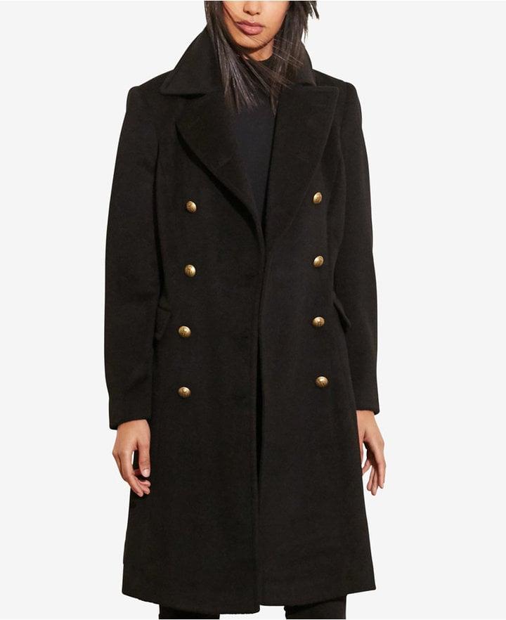 Lauren Ralph Lauren Double-Breasted Military Coat ($320)