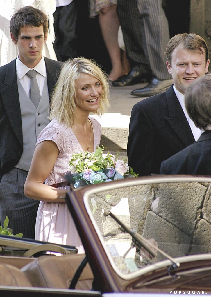 Cameron Diaz traveled to the South of France to be a bridesmaid for a friend's wedding in July 2006.