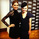 Kate Waterhouse and Emma Freedman frocked up for David Jones' Autumn Racing Carnival fashion preview in Sydney.