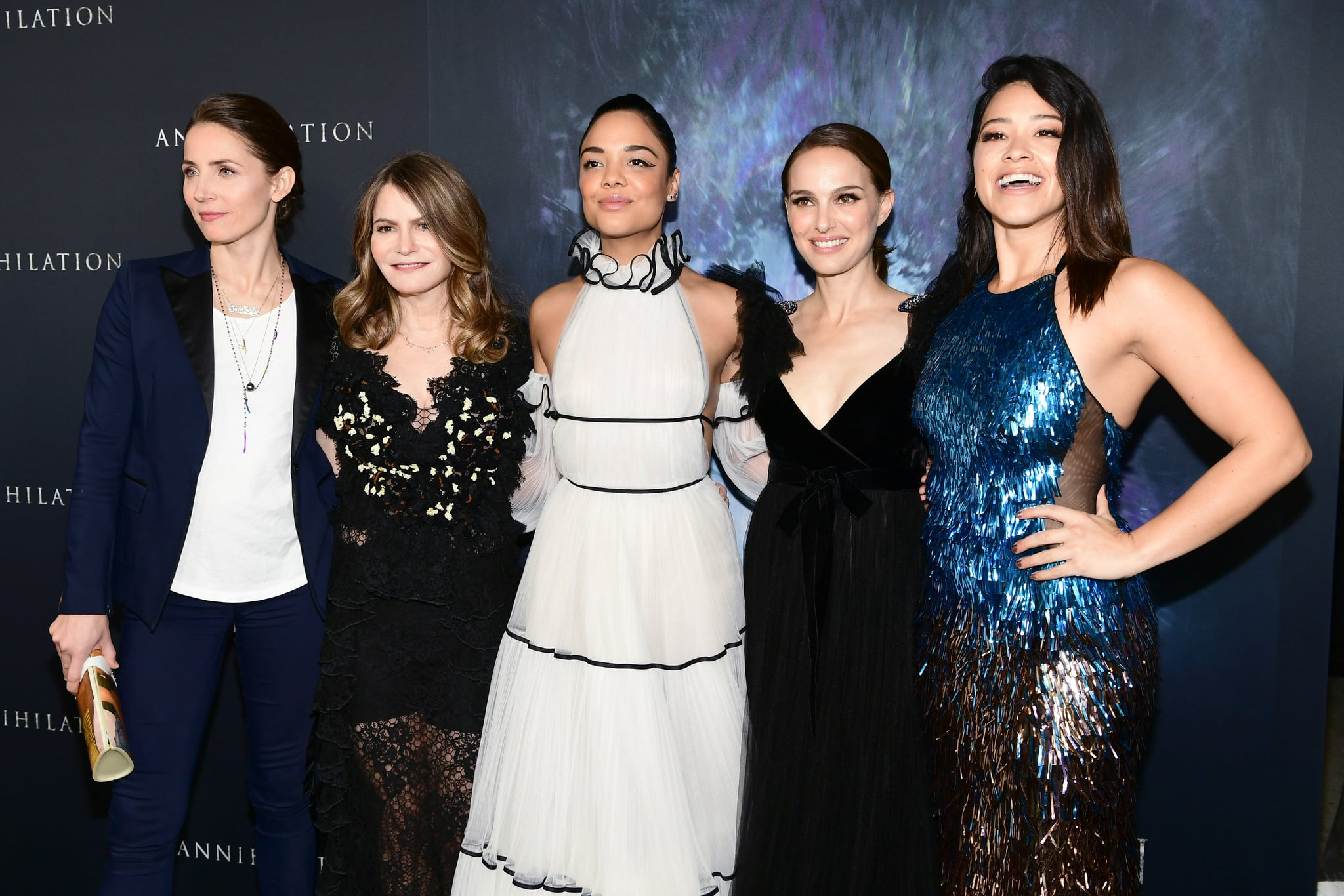 The cast at Annihilation's LA premiere. Image Source Getty  Emma McIntyre