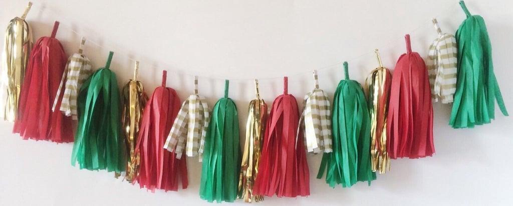Christmas Tissue Tassel Garnland