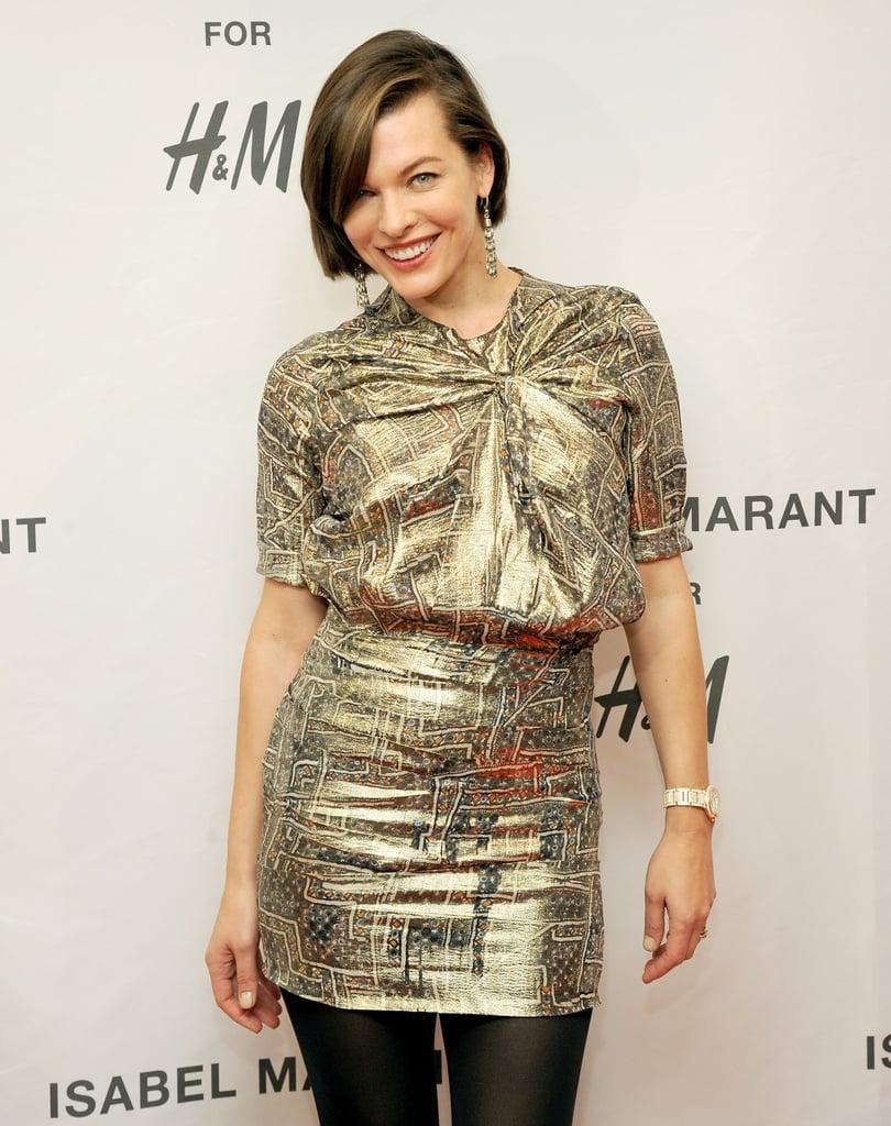 Milla Jovovich at the H&M Isabel Marant VIP event.