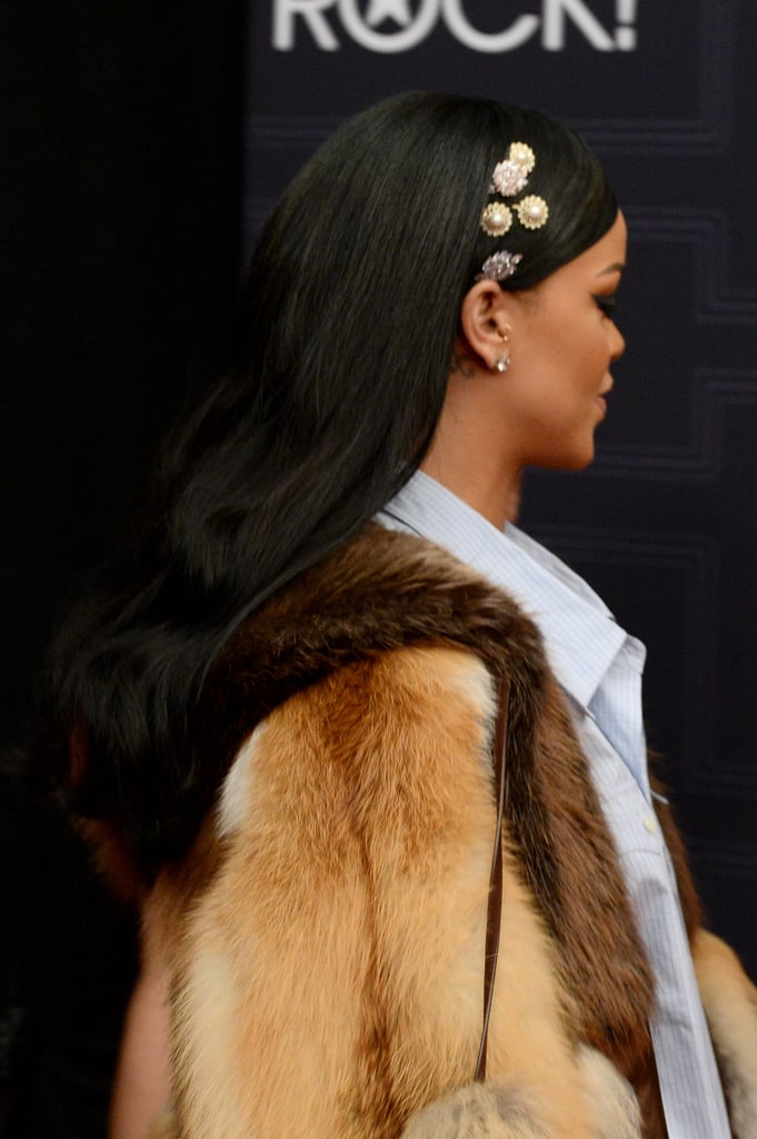 Rihanna Wears Crystal Bobby Pins on Instagram