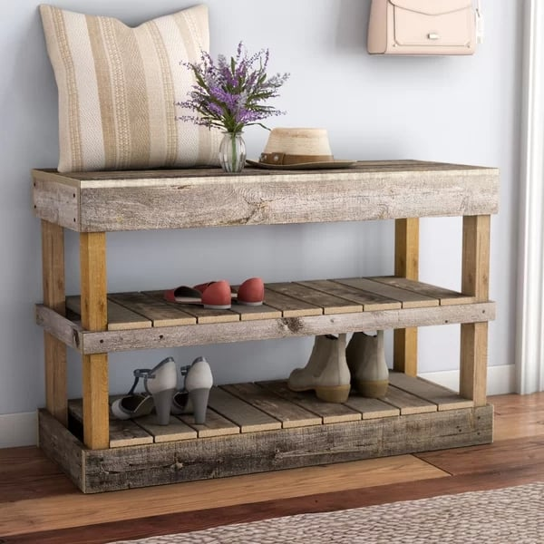 Wayfair Barnwood 8 Pair Shoe Storage Rack