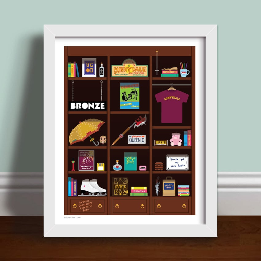 Buffy Bookcase Print ($22-$36)