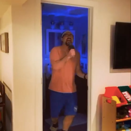 Dad Acts as Potty Training Toddler's Hype Man | Video