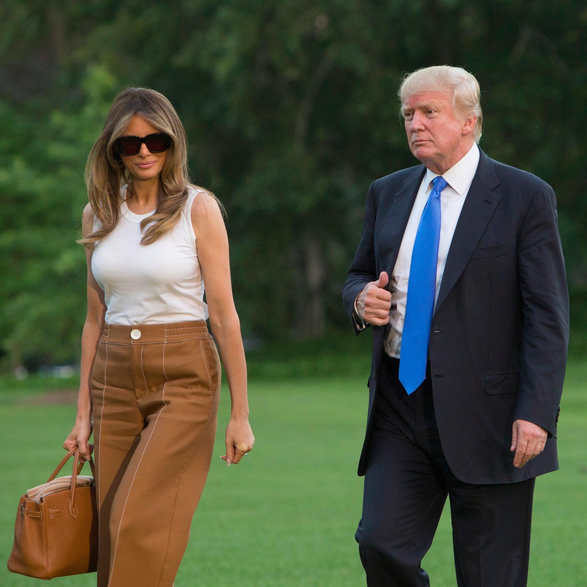 eee9826f0a Melania Trump Bally Pants at the White House