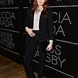 Florence Welch wore a black trouser suit for the soiree.